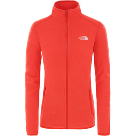 The North Face 100 Glacier Jack Doorlopende Rits Dames, cayenne red